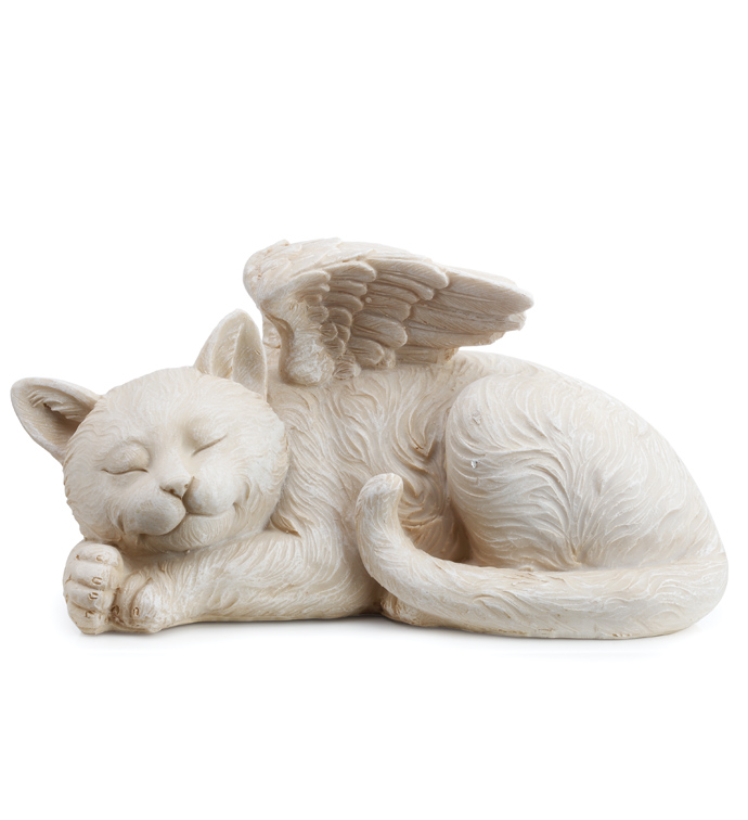 Sleeping Angel Cat with Wings