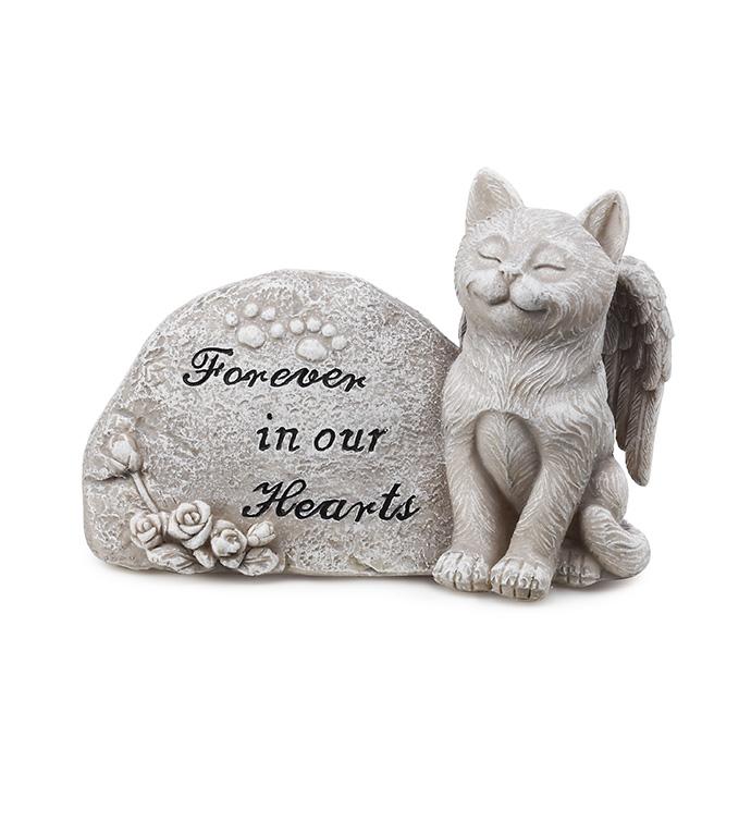 Memorial Plaque with Cat