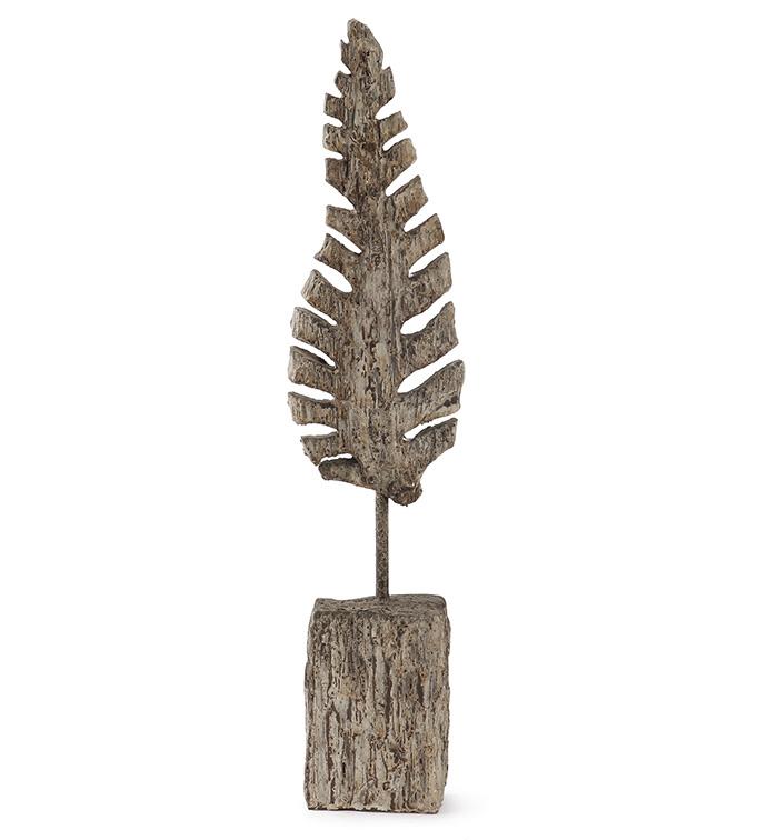 Fossil Leaf on Base