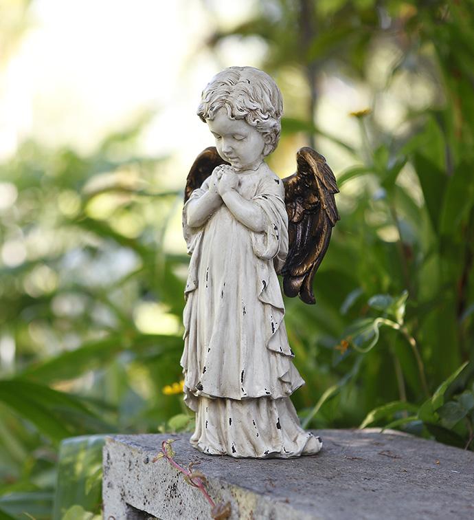 Praying Cherub with Bronze Wings