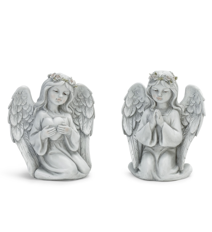 Praying and Heart Angel, 2 Assorted