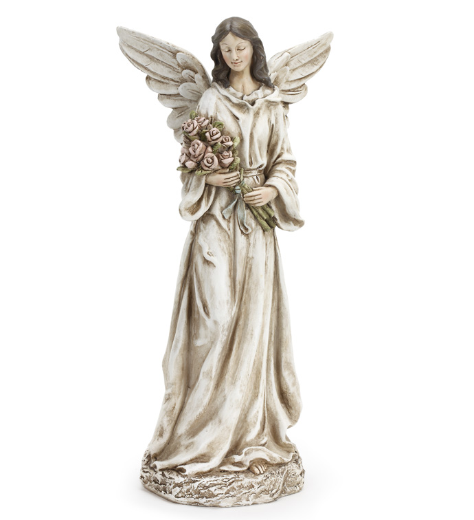Angel Holding Flowers