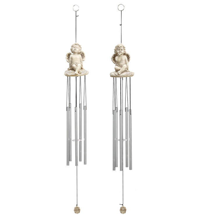 Cherub Wind Chime, 2 Assorted