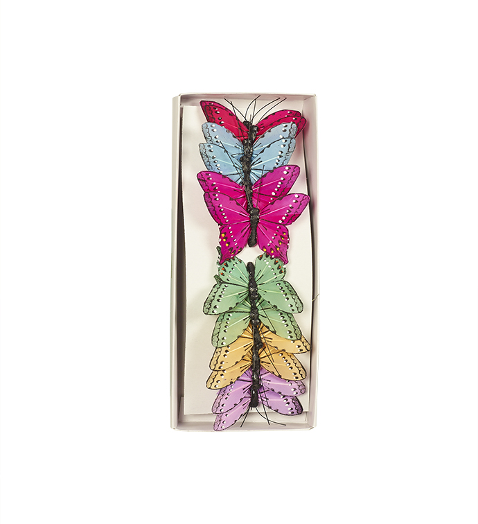 Small Colorful Butterfly, Box of 12