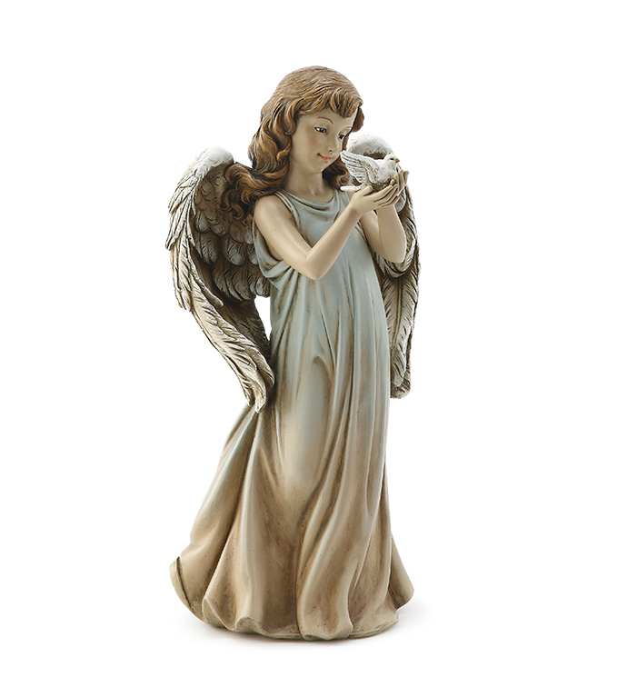 Angel Girl Holding a Dove