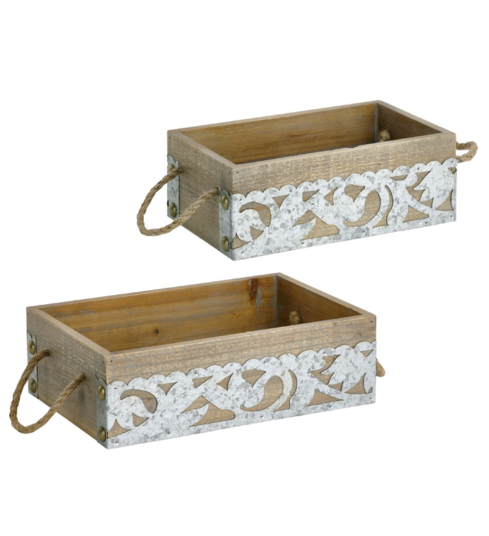 Set of 2, Rectangle Planters