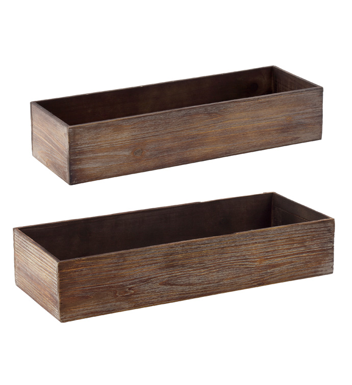 Large Rectangle Boxes, Set of 2