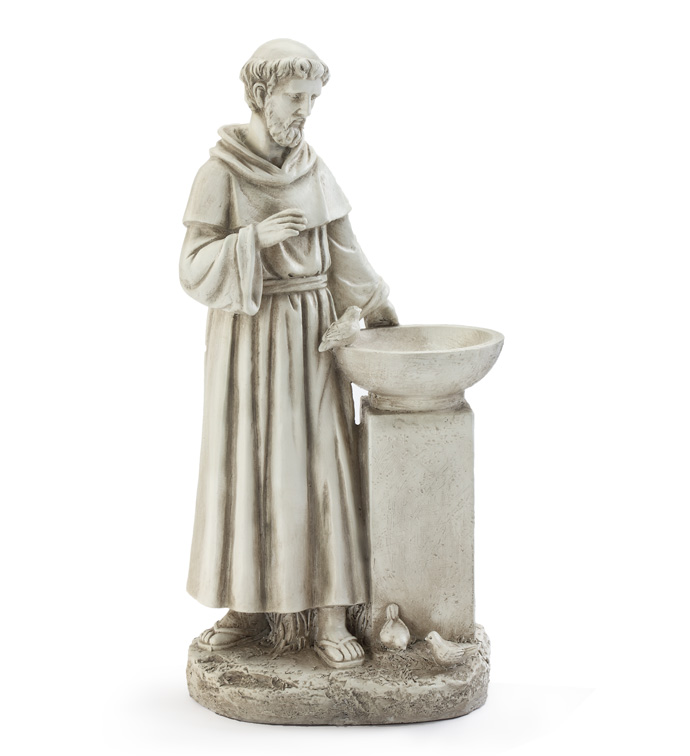 St Francis with Bird Feeder