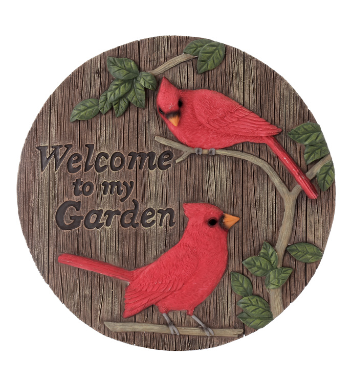 Garden Cardinals Stepping Stone