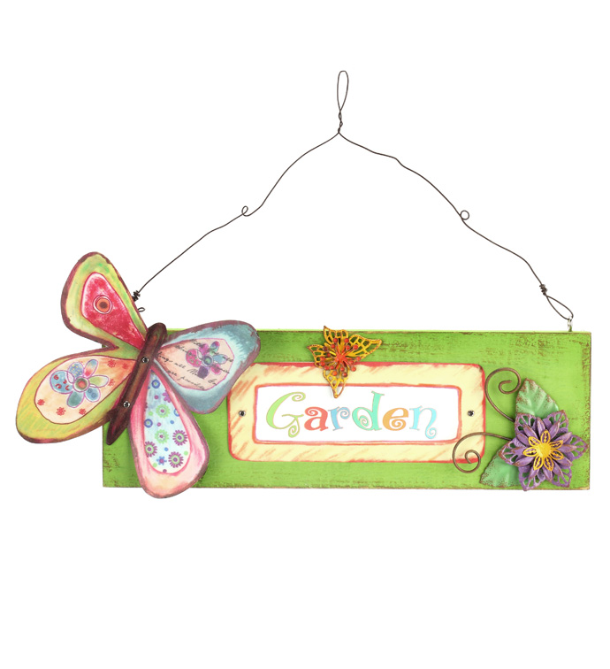 Colorful Butterfly Sign