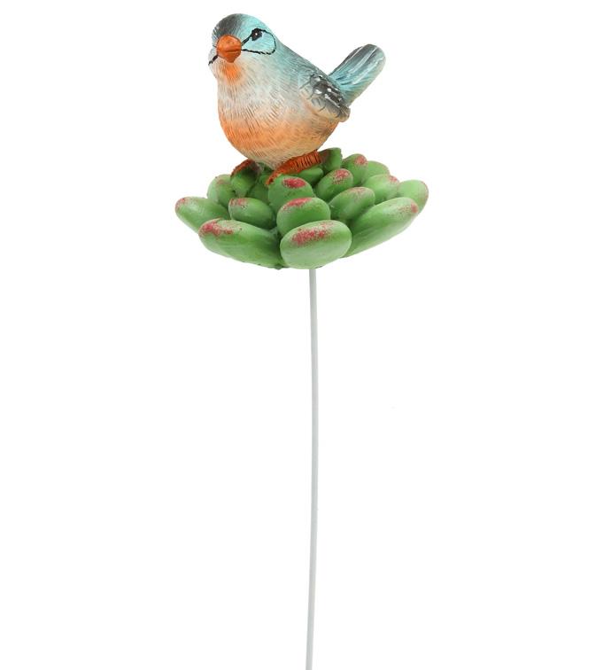 Succulent with Bird Pick