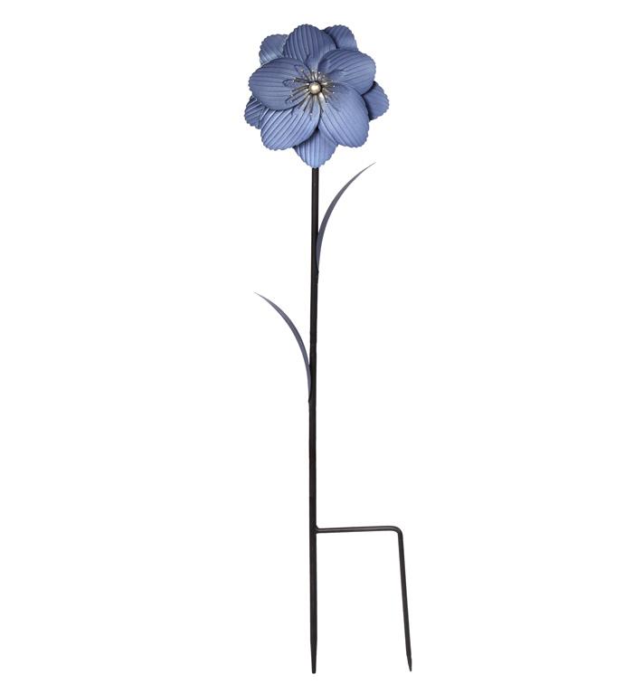 Blue Flower Garden Stake
