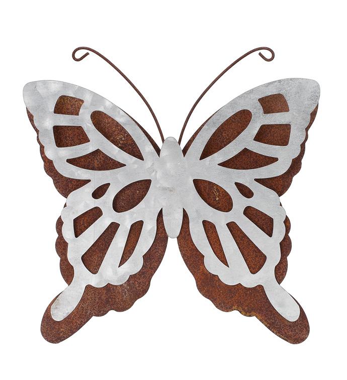Silver/Rust Butterfly Wall Hanger