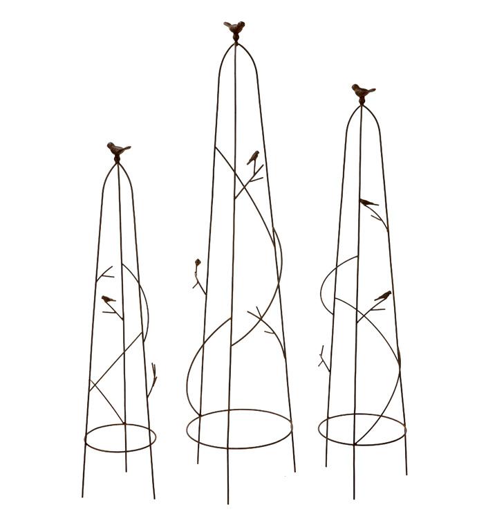 Bird Branch Dome Trellis, Set of 3