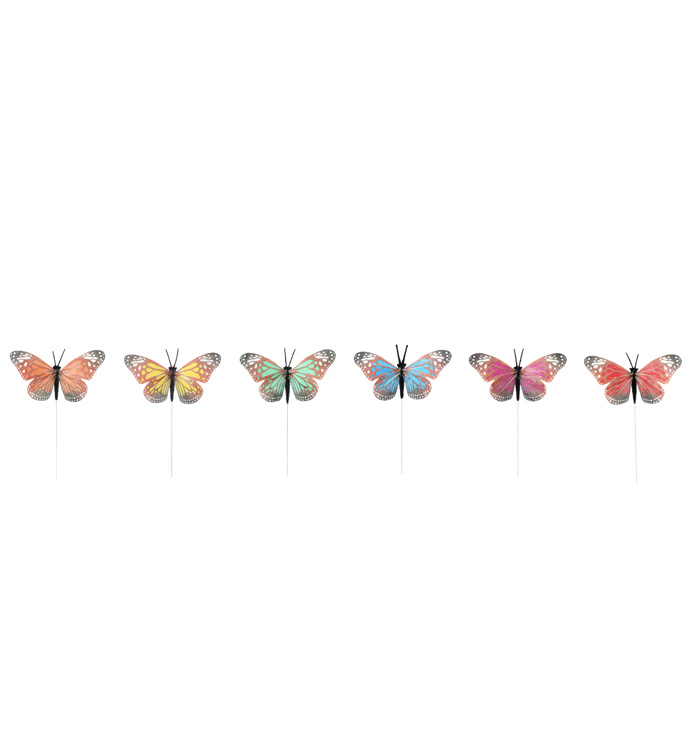 Butterfly Wired Pick, 6 Assorted