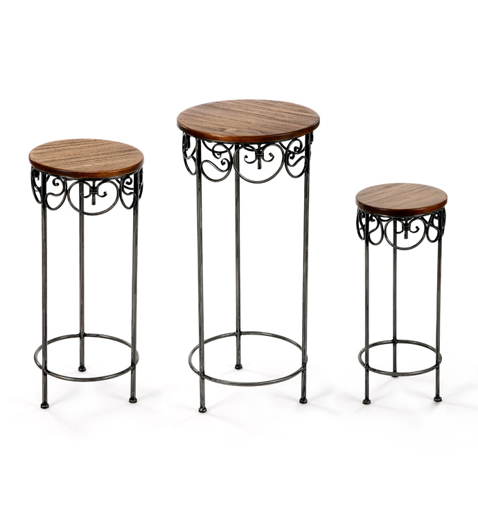 Scroll Plant Stand, Set of 3
