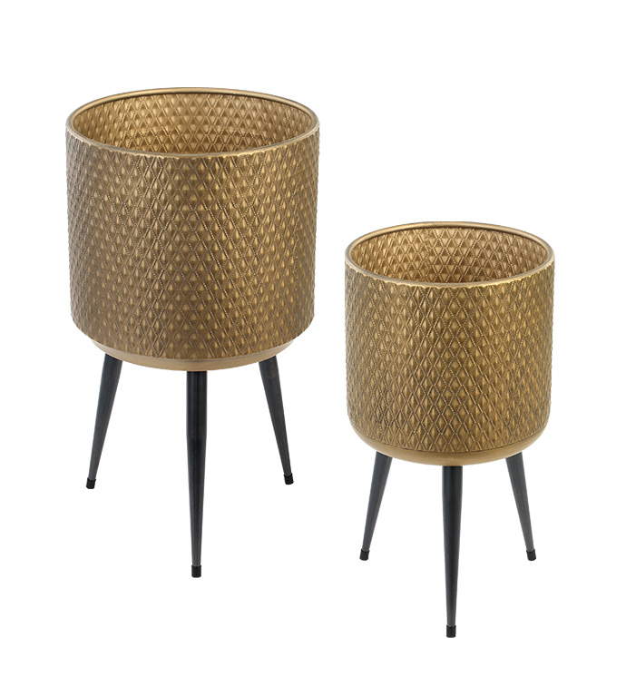 Pot Cover on Stands, Set of 2