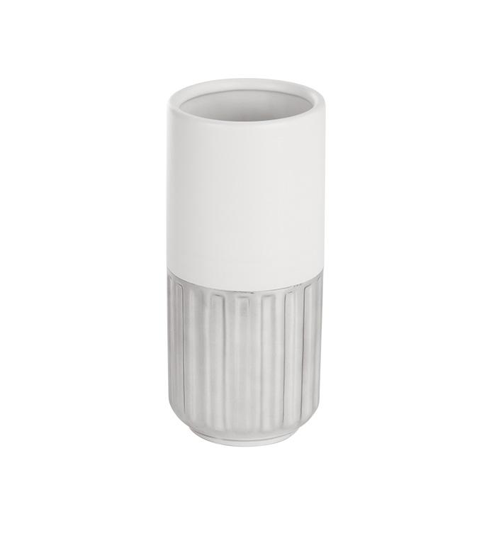 White & Silver Vase