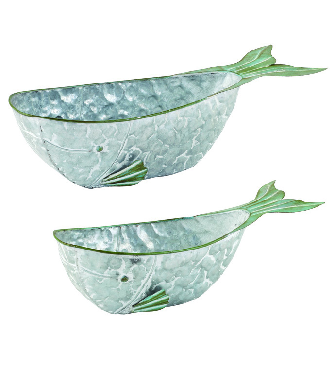 Whale Planter, Set of 2