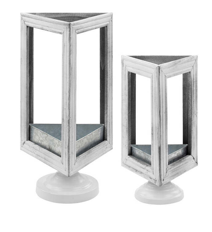 Triangle Pedestal Plant Stand, Set