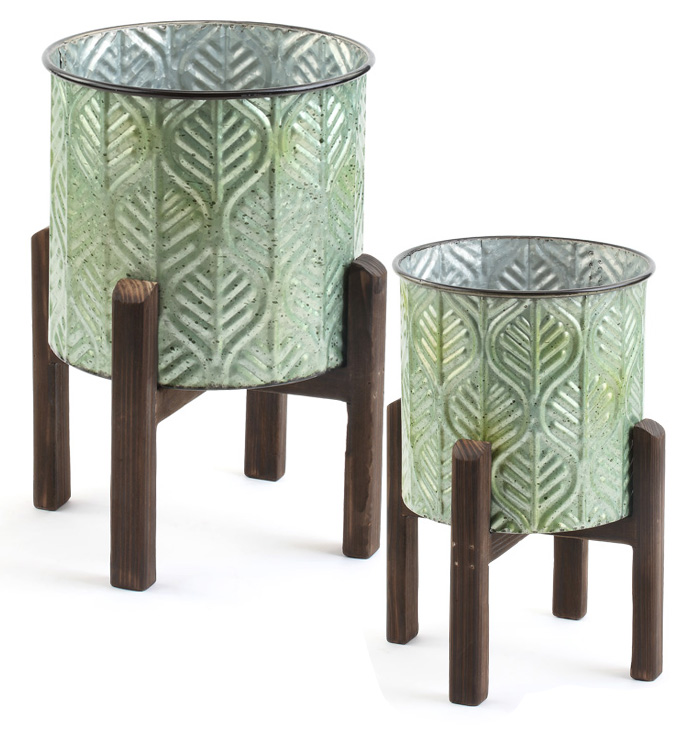 Leaf Tree Cover on Stand, Set of 2