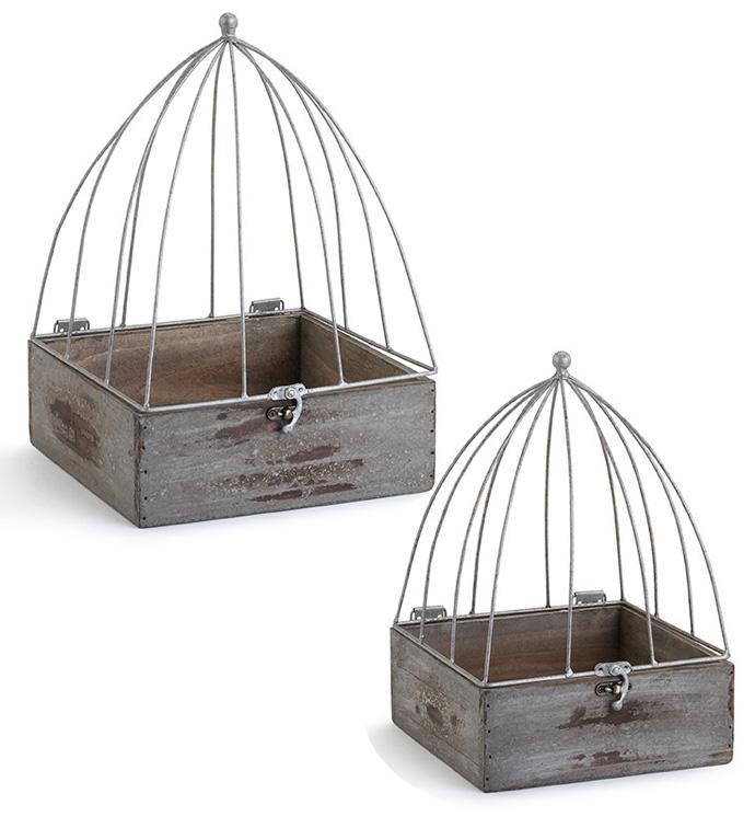 Rustic Terrarium Box, Set of 2