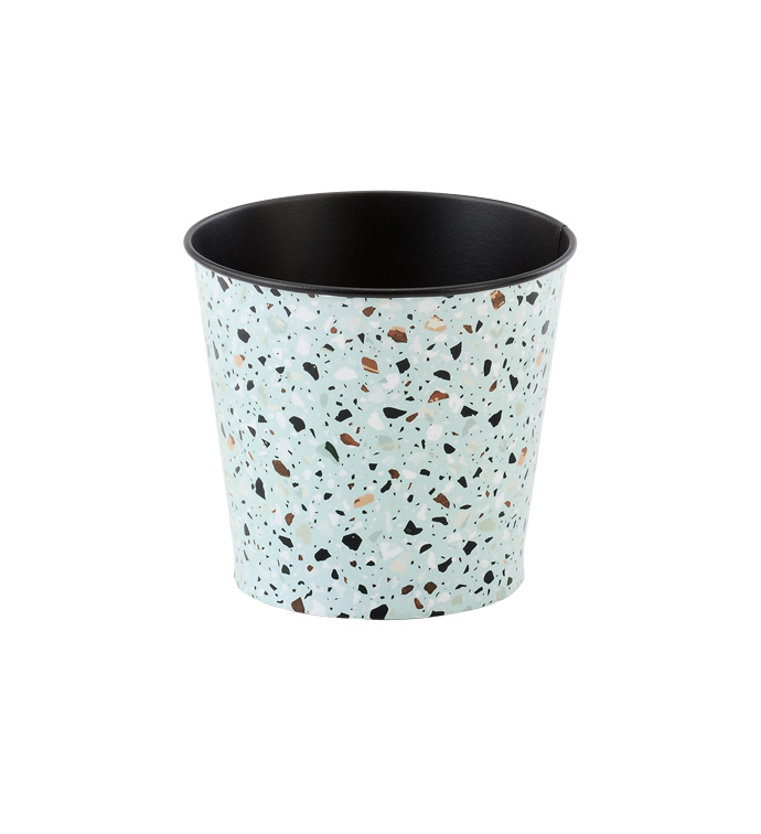"5"" Grey Terrazzo Decal Pot Cover"