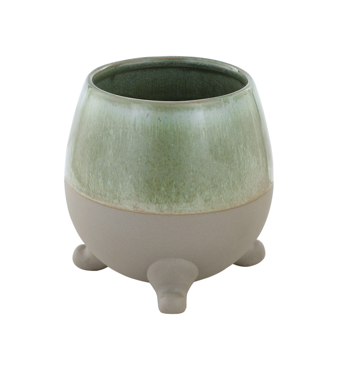 Small Antique Footed Planter