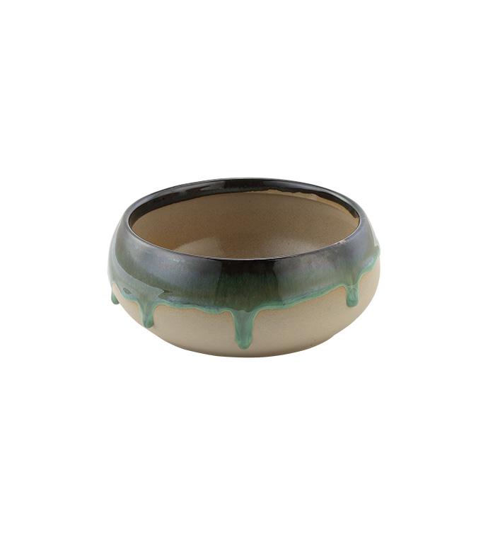 Green Drip Glaze Dish Garden