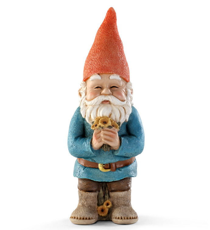 Gnome with Bouquet