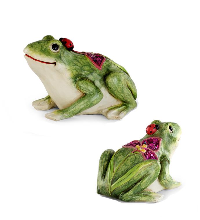 Spring Garden Frog Statue