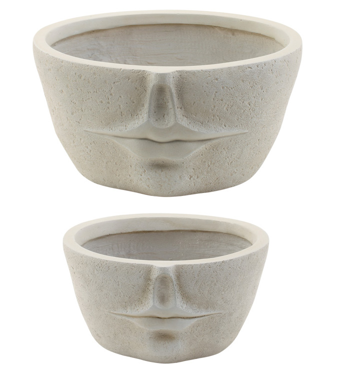 Modern Face Planter, Set of 2