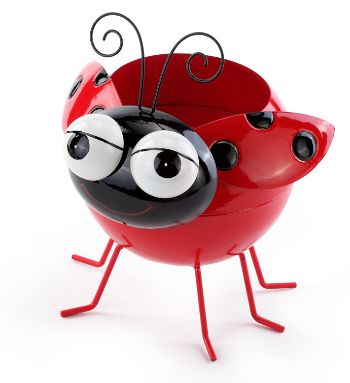 Ladybug Flower Planter