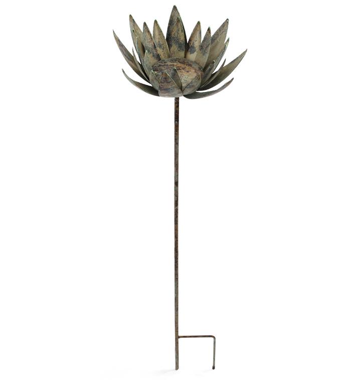 Lotus Flower Garden Stake