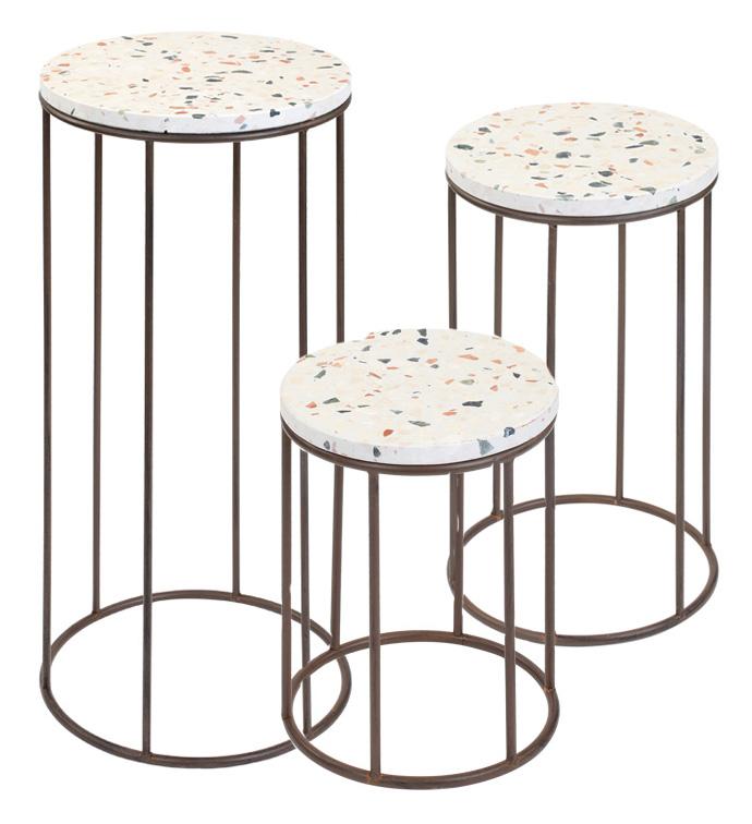 Terrazo Top Tables, Set of 3