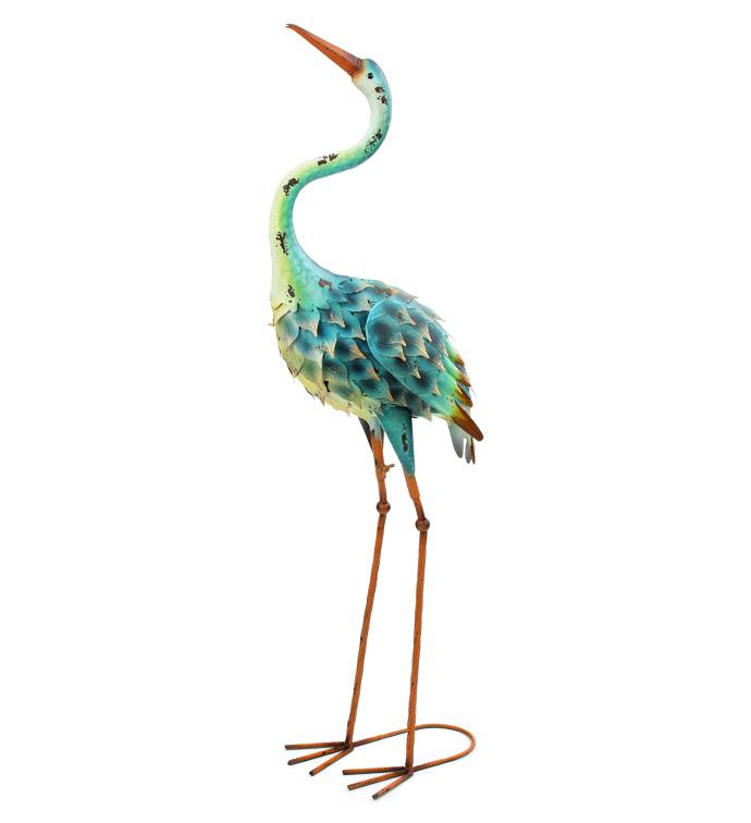 Blue/Yellow Large Garden Crane