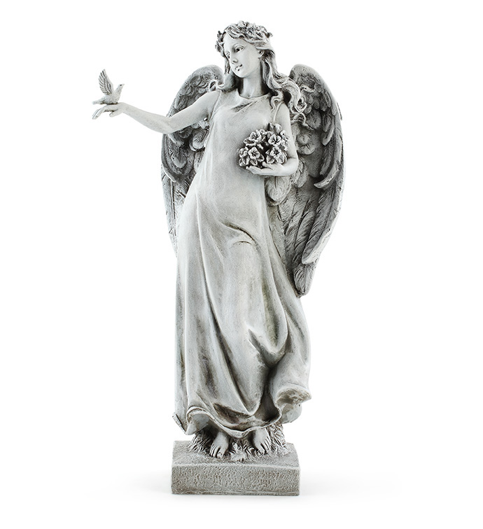 Angel With Bird On Hand
