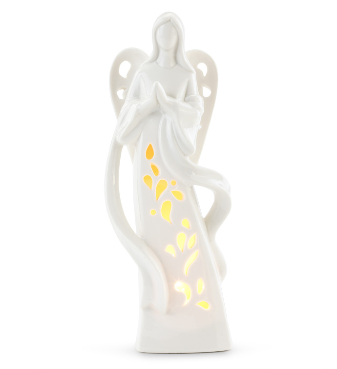 Light Up Praying Angel