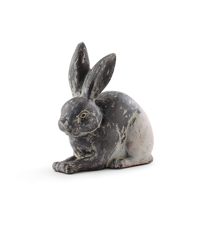 Antique Bunny Laying