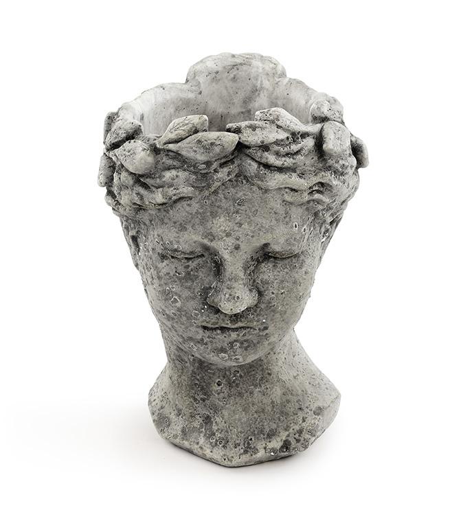 Artisan Bust Stone Planter
