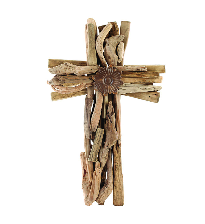 Driftwood Cross Wall Piece