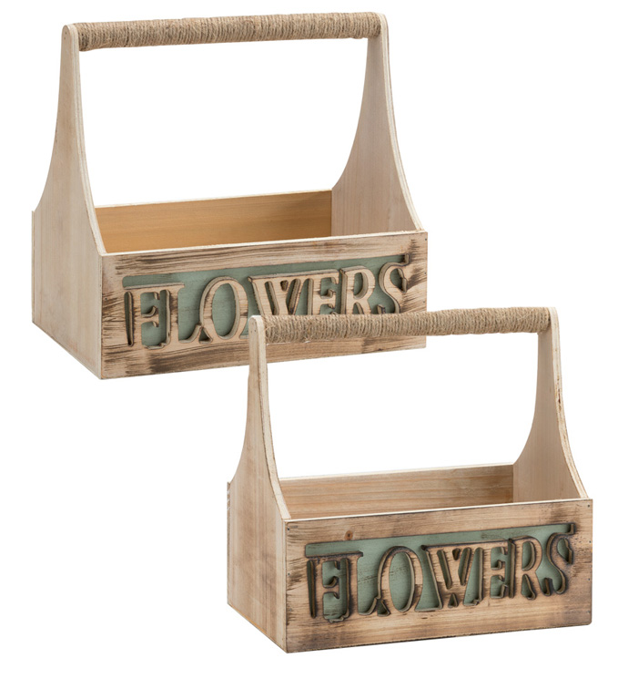 Flower Planter with Rope, Set of 2
