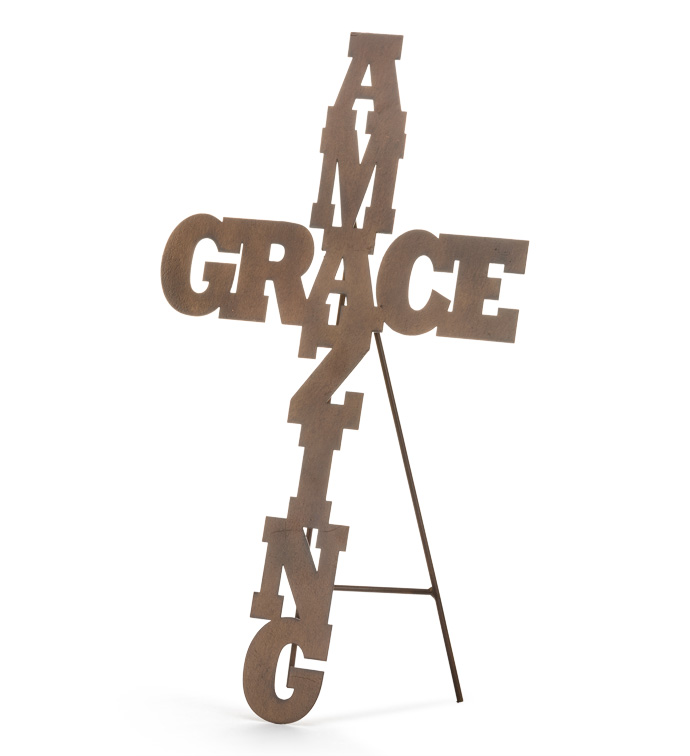 Amazing Grace Cross with Stand