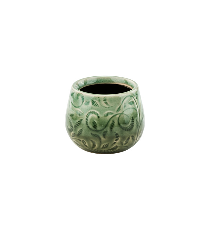 Small Embossed Sage Leaf Cache