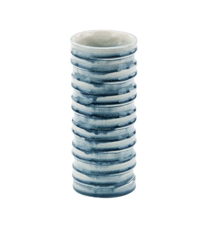 Blue/White Wave Vase