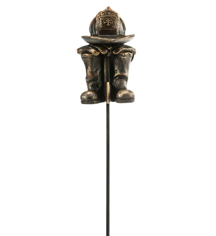 Bronze Fireman Hat/Boot Pick