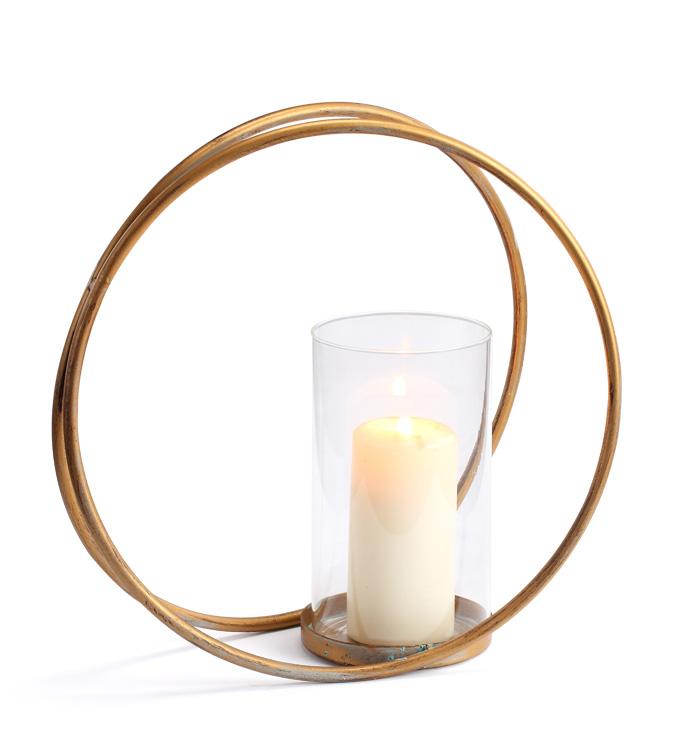 Round Gold Vase Planter/Hurricane