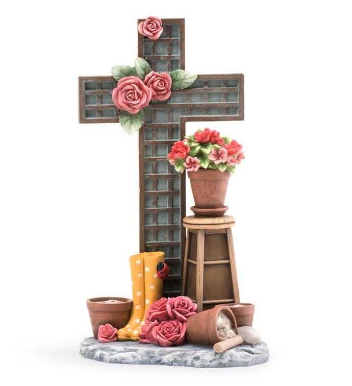 Flower Garden Cross