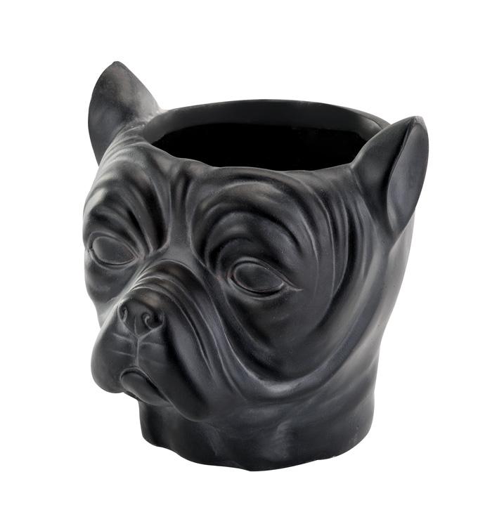 French Bulldog Head Planter