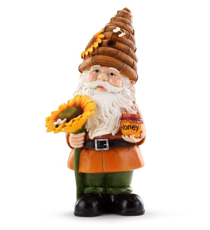 Gnome with Bee Hive Hat
